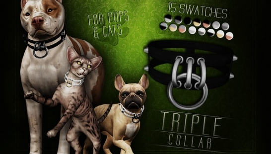 Triple Collar for Cats & Dogs 狗狗的项圈