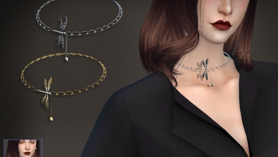 S-Club ts4 WM necklace F 201704-项圈