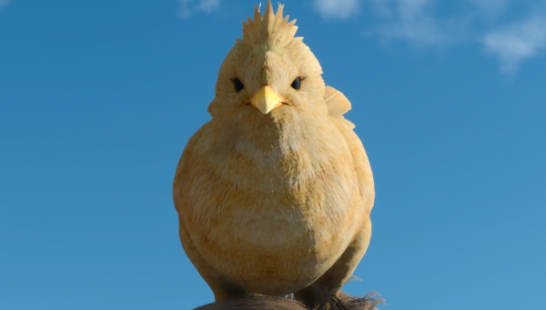 Head-mounted chick Chocobo (Male,Accessory)