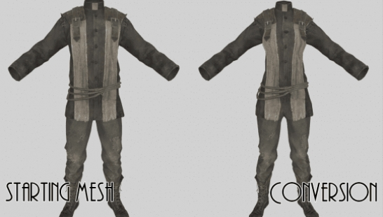 SexSwap Outfit Conversion Templates for Outfit Studio 服装转换