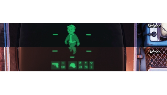 Remove Pipboy Dust and darker screen