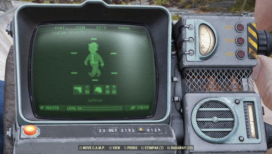 Static Pip-Boy Scanlines