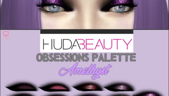 HudaBeauty Obsessions Palette _ Amethyst 眼影