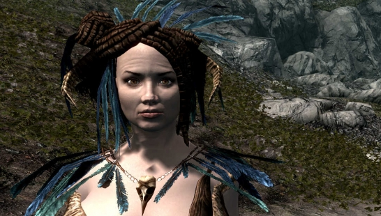 Forsworn blue feathers