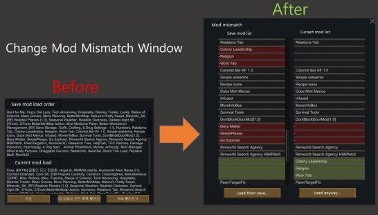 [汉化][UI]更好的MOD不匹配窗口-Better ModMismatch Window