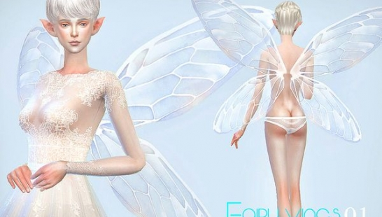 翅膀:S-Club LL ts4 Fairy wings 01