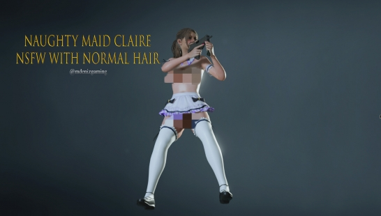 Naughty Maid Claire NSFW with Normal Hair