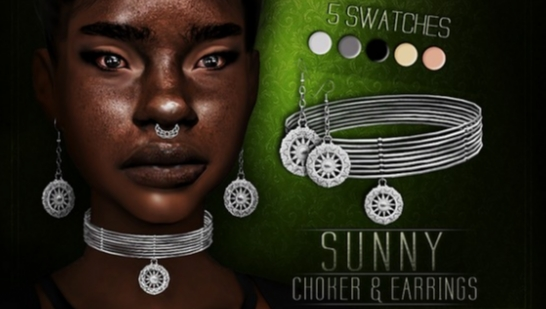 Sunny Choker & Earrings 项链耳环