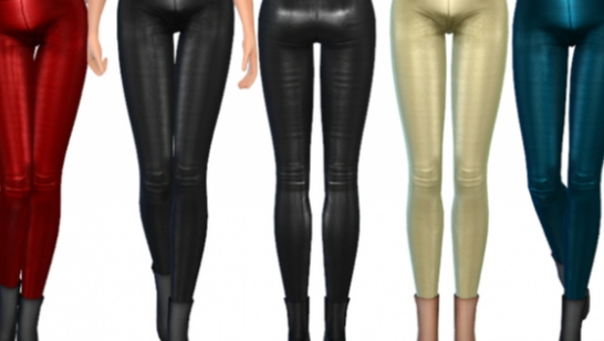 ekinege Leather Leggings-皮革紧身裤