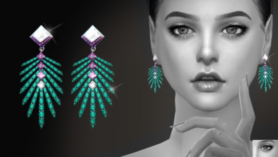 S-Club ts4 WM EARRINGS F 201702-耳环