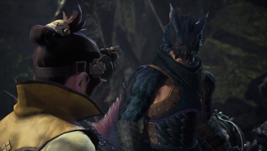 Nargacuga Armor with Monster Parts (male)