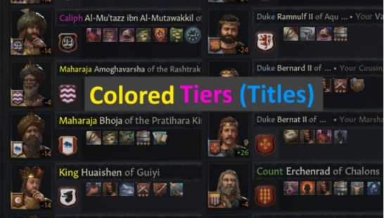 彩色头衔 Colored Tiers (Titles)