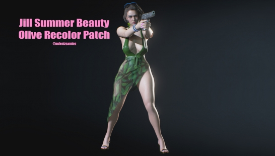Jill Summer Beauty Olive Recolor Patch(绿色附件)