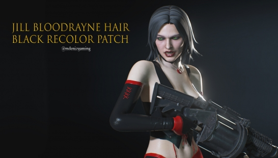Jill Bloodrayne Hair Black Recolor Patch附件