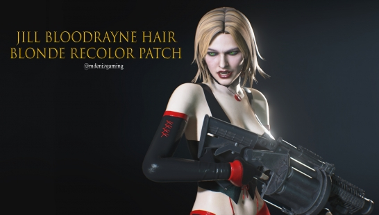 Jill Bloodrayne Hair Blonde Recolor Patch附件