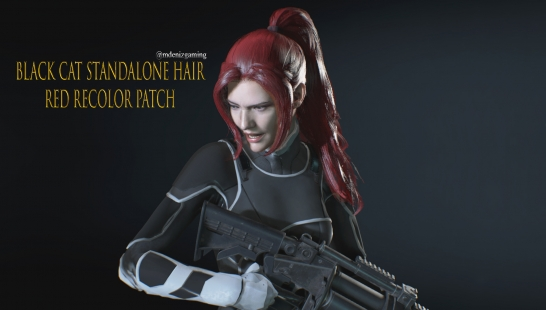 Jill_Black_Cat STANDALONE Hair Red Recolor Patch