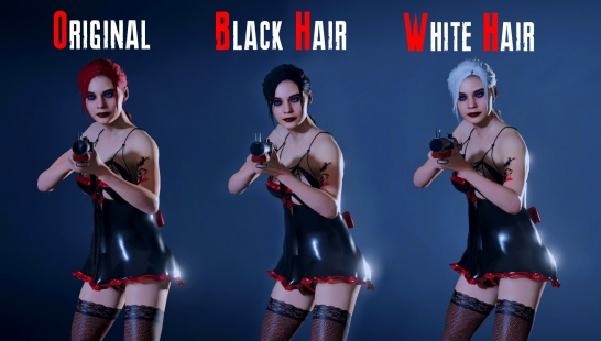 Claire Sexy Gothic Black Hair ( Addon )附件