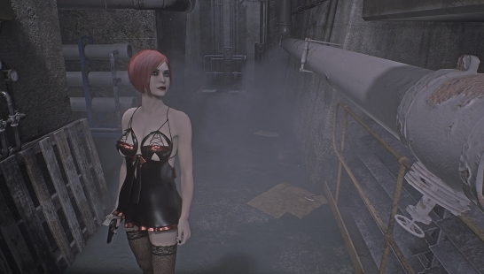 Ada Sexy Gothic Without Tattoo ( Addon )     无纹身 附件