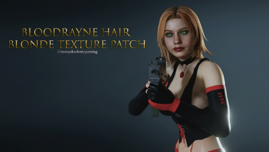 Bloodrayne Hair Blonde Texture Patch附件