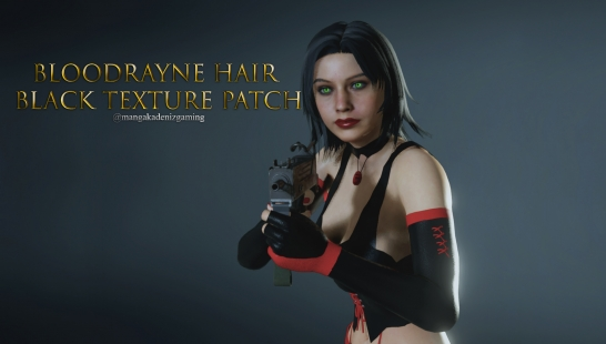 Bloodrayne Hair Black Texture Patch附件