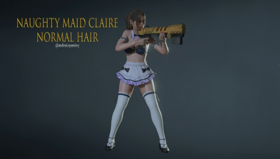 Naughty Maid Claire with Normal Hair V2