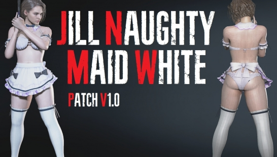 Jill Naughty Maid - White (吉尔淘气白女仆)
