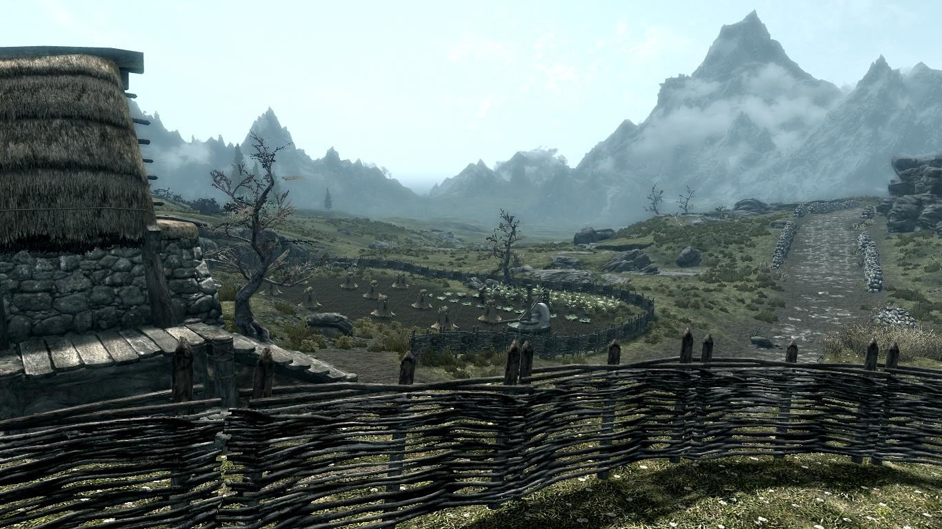 全苔原纹理移植(Green Whiterun Tundra)