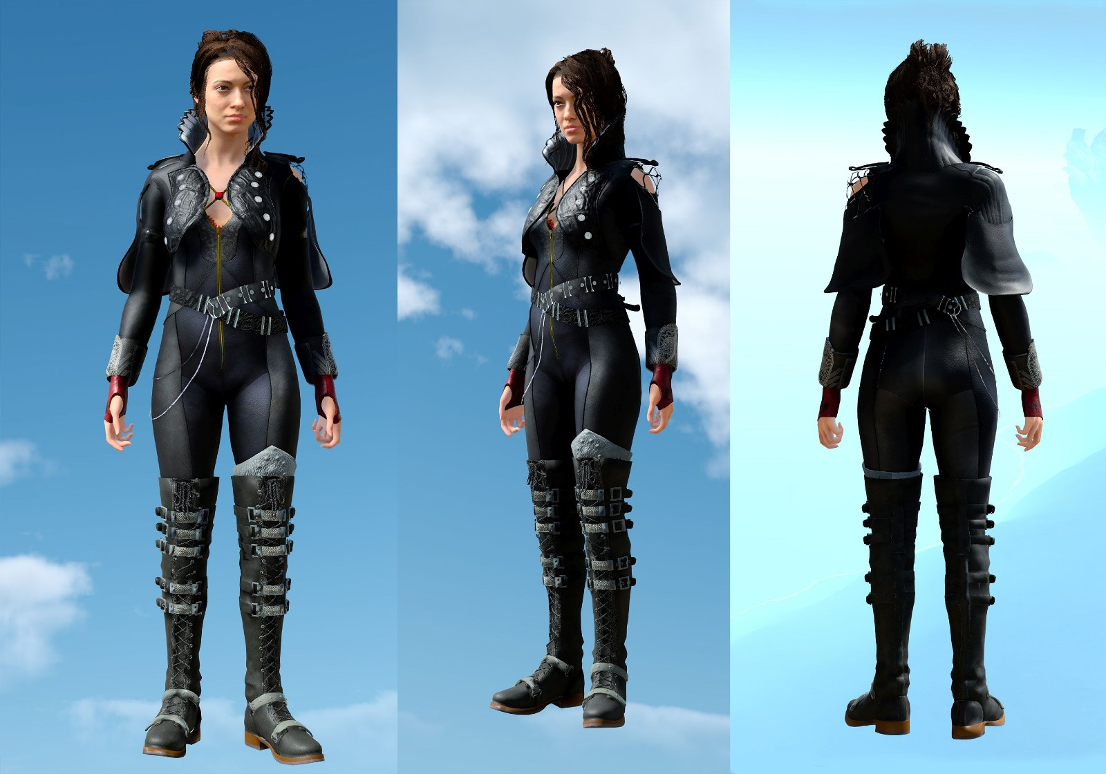 Crowe Kingsglaive Mage Jacket CAPELESS (female multi tops)